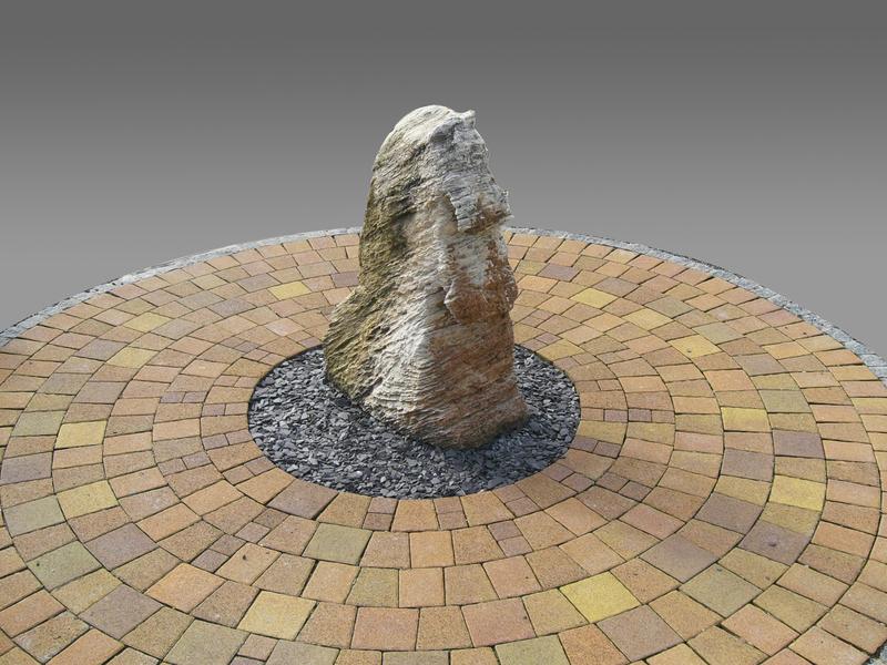 Large ff steindesign verarbeitet